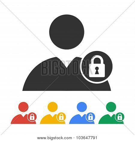 User Icon, Lock Icon