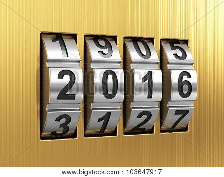 2016 Year Combination Lock