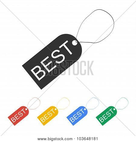 Tag Icon, Vector Illustration. Flat Design Style