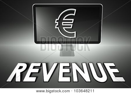 Screen And Euro Sign, Business