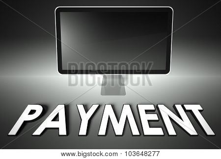 Computer Blank Screen With Word Payment