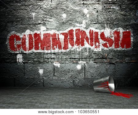 Graffiti Wall With Communism, Street Background