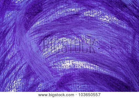 Acrylic Paints Background In Purple Tones. Abstract Shapes.