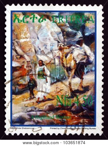 Postage Stamp Eritrea 2004 Highland Woman, Child And Camel
