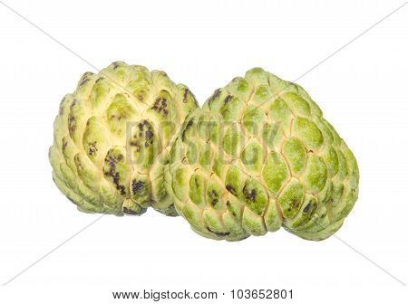 Two Custard Apples Isolated On White