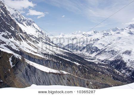 Alpine Valley In Spring