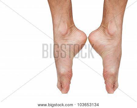 Ballet dancer bare foot