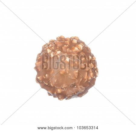 Chocolate Ball Isolated On White
