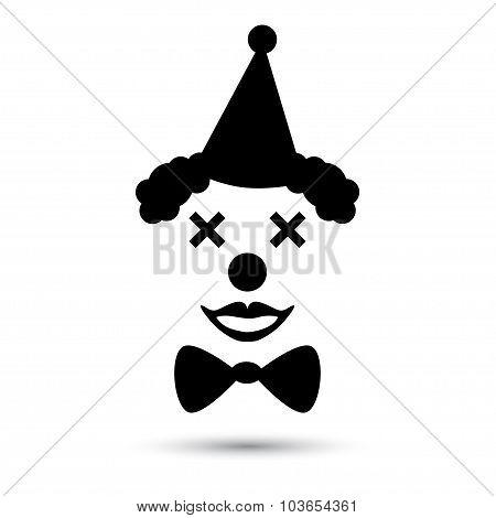 Vector clown icon