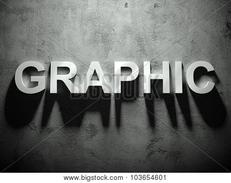 Graphic Text With Shadow, Advertising Word