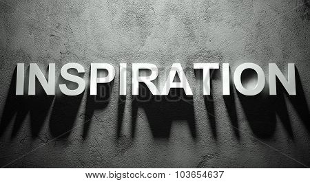 Inspiration Text With Shadow, Word
