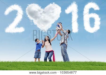 Hispanic Family Celebrate New Year