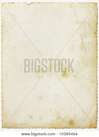 Aged Paper With Fretted Border
