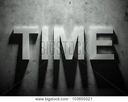 Time Text With Shadow, Word