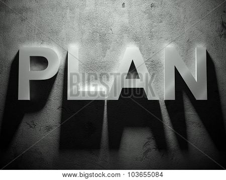 Plan Text With Shadow, Business Word
