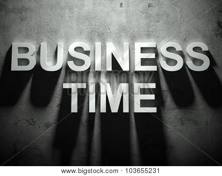 Business Time Text With Shadow, Business Word
