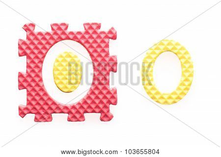 Colored Puzzles With Number 0 For Children