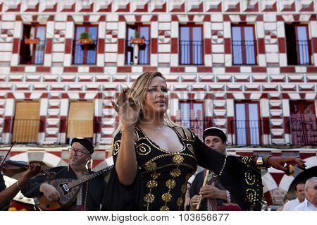 Belly Dancer With Finger Cymbals