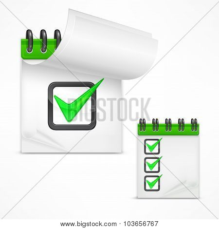 Notepad With Check Mark