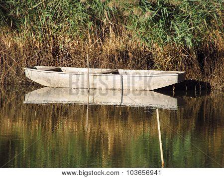 fishingboat on the lake