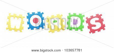 Colored Letters, Words For Children