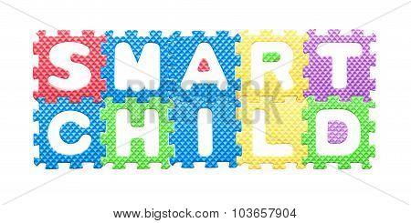 Colored Letters, Smart Child Motto For Children