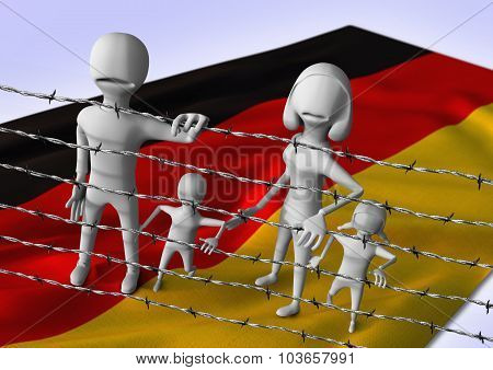 migration to europe concept - crisis in Germany