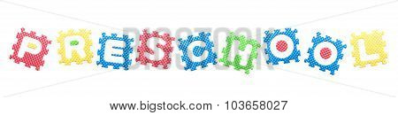 Colored Letters, Preschool Word For Children