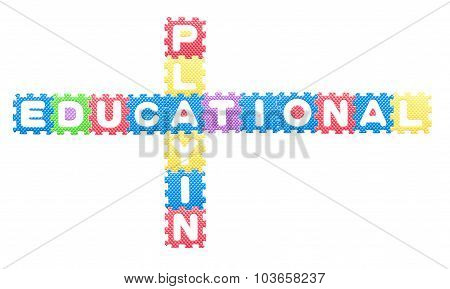 Colored Letters, Educational Playing For Children