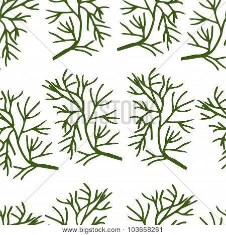 Stylized dill seamless pattern