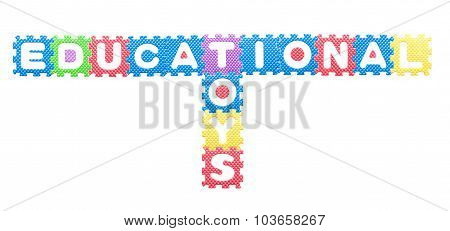 Colored Letters, Educational Toys For Children