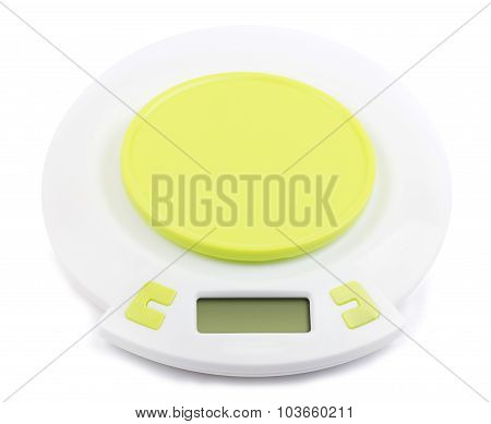 Electronic kitchen scale with green stand