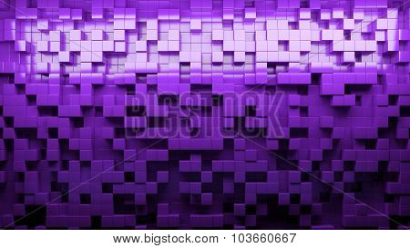 Abstract background with cubes in different levels.