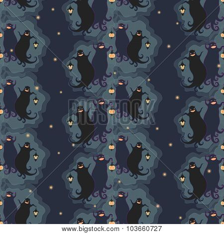 Ghosts Party Seamless Pattern 1