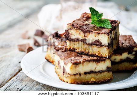 Chocolate Cream Cheese Bars