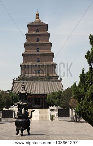 Giant Wild Goose Pagoda, China, Xian