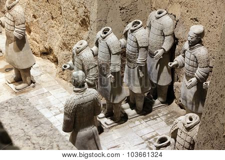 Xian, China - June 13: Terracotta Warriors In Xian, China On June 13, 2012. The Figures Are Discover