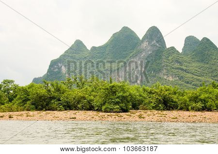 Karst mountain at li river china