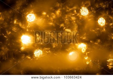Grime on window and christmas light on background