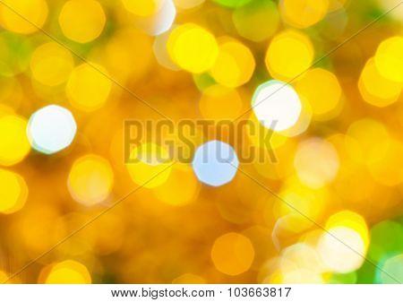 Yellow And Green Twinkling Christmas Lights