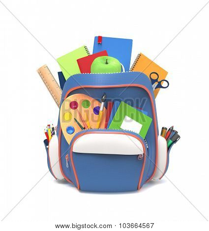 School rucksack with tools