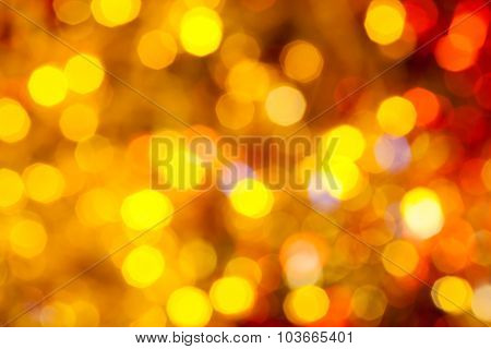 Brown, Yellow And Red Blurred Christmas Lights