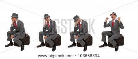 Upset business travelers