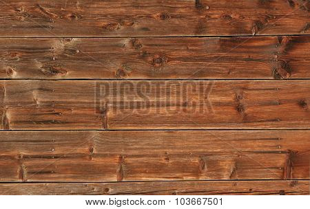 Old Facade With Wooden Planks