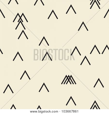 Vector seamless pattern. Modern monochrome geometric background