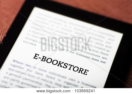 E-bookstore On Ebook, Tablet Concept