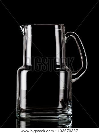 Empty water pitcher