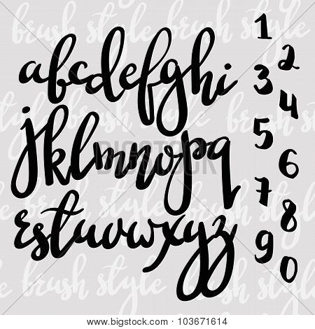 Handwritten Brush Pen Modern Calligraphy Font