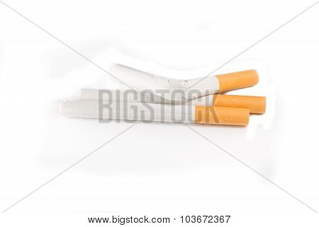 Tobacco a standard cigarette with a filter