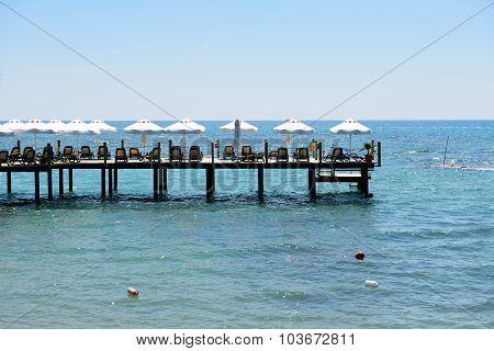 The Pier Near Beach, Antalya, Turkey